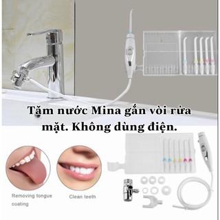 Tăm nước.Máy tăm nước Mina.Không đổ nước, cắm điện.Tặng kèm 6 đầu tăm.Làm sạch răng miệng dễ dàng cho mẹ và gia đình