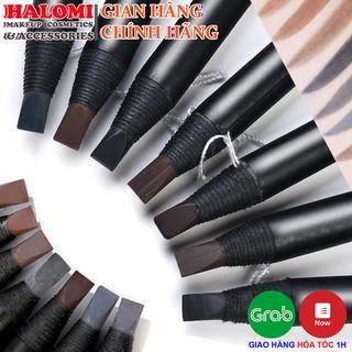 Chì xé kẻ mày Haozhuang cứng phẩy sợi Eyebrow Pencil sắc nét chuyên dùng cho Makeup trang điểm