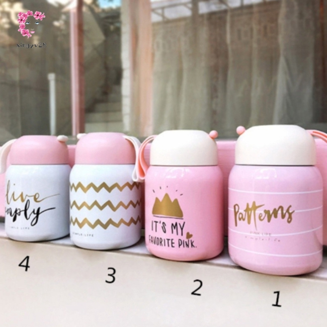 Cute Mini Vacuum Hot Water Thermos Cup with Hanging Rope