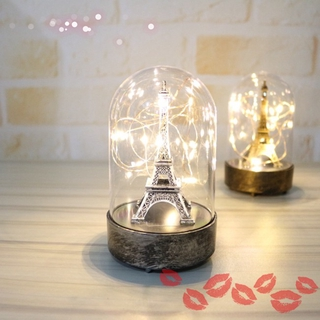 【In stock】 Eiffel Tower Light Ornaments Family Supplies Night Lamp Glass Cover Light Valentine's Day Birthday Gift