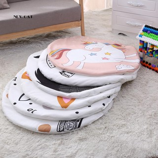 ღNK_Newborn Baby Kids Crawling Blanket Round Animal Pattern Print Carpet Floor Mat