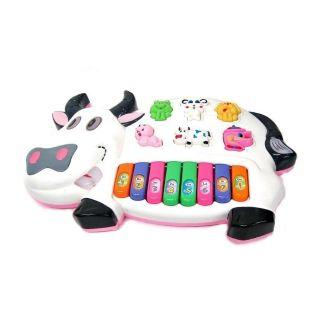 Đồ chơi đàn chạy pin hình bò sữa.