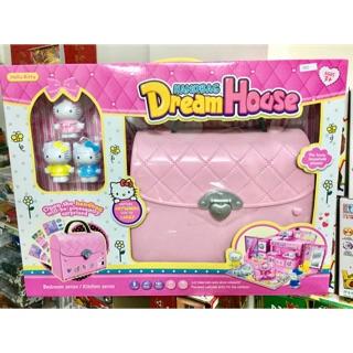Đồ chơi túi xách ngôi nhà mơ ước Hello Kitty