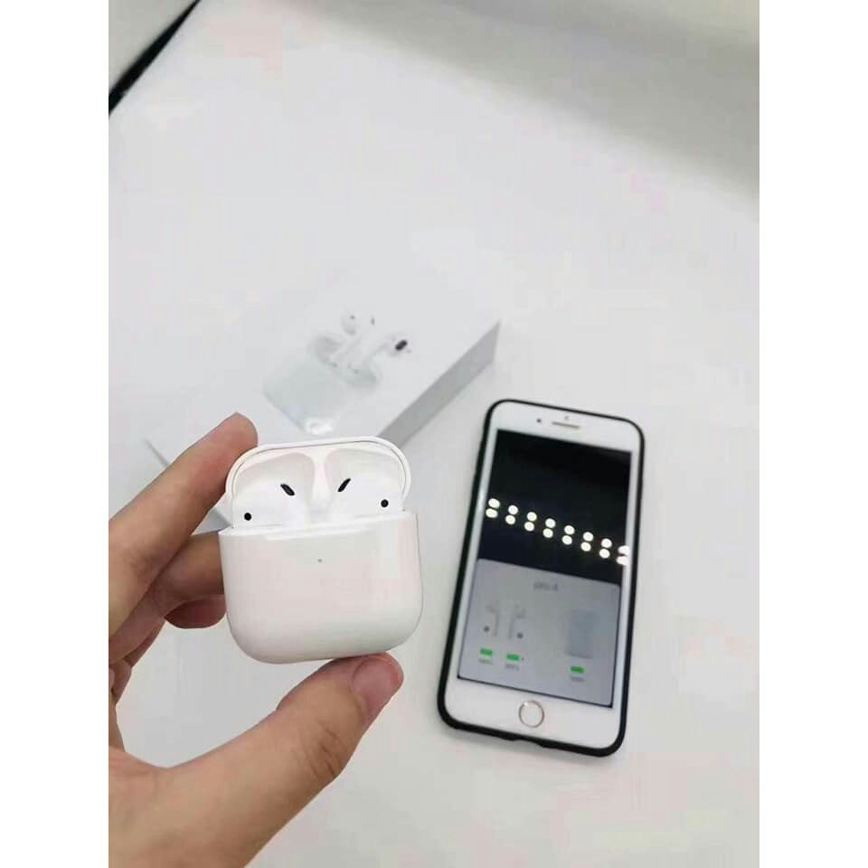Tai Nghe Bluetooth Airpod Pro 4 bản Cao Cấp Định Vị Đổi Tên Bluetooth 5.0 Âm Thanh Cực Tốt Đàm Thoại Sắc Nét