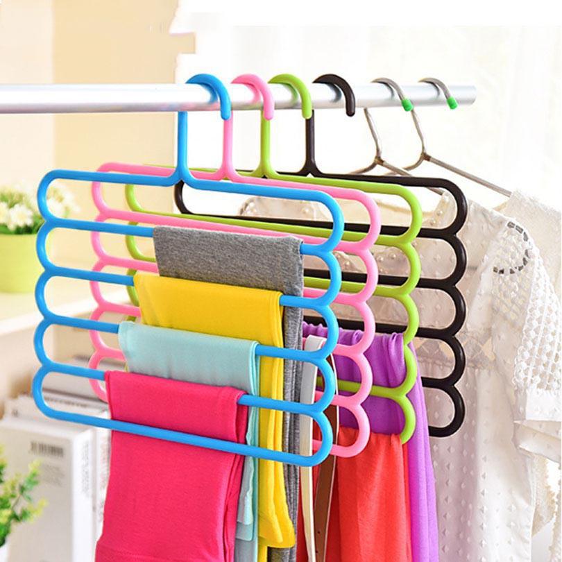 Móc nhựa treo quần áo nhiều tầng tiết kiệm không gian
