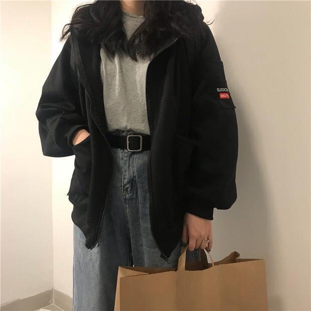 [SIÊU HOT] Áo khoác nỉ ngoại unisex SLEO mặc đôi nam nữ (Sỉ từ 5sp bất kỳ)   SaleOff247