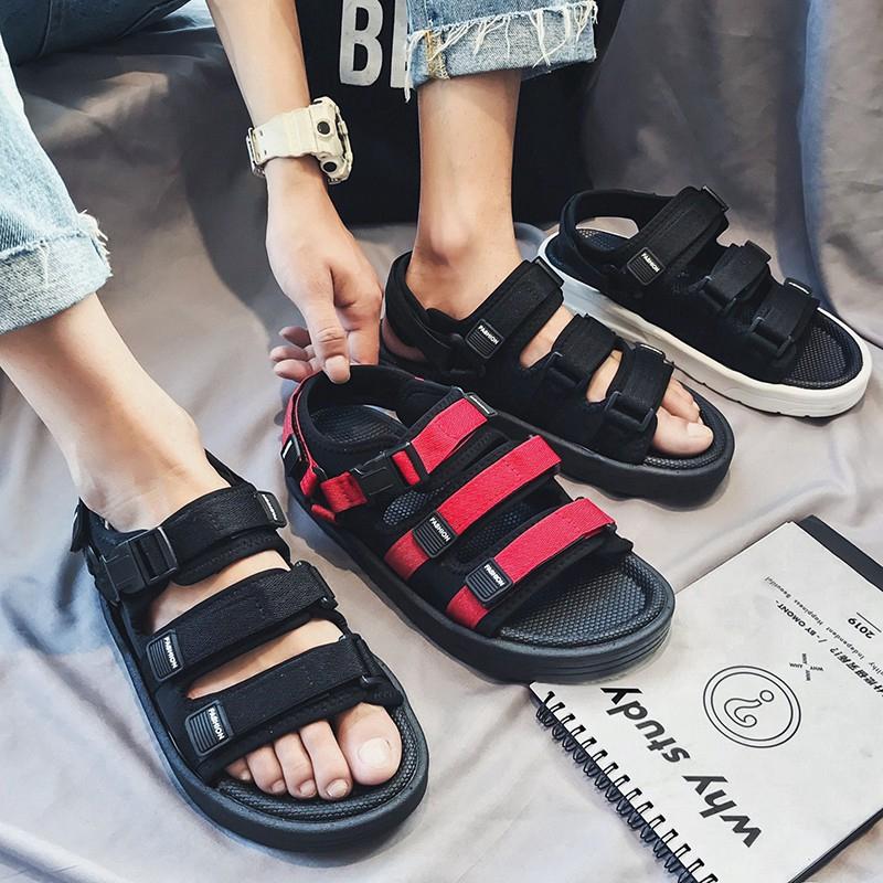 Giày sandal 3 quai gài phong cách Hàn Quốc thời trang