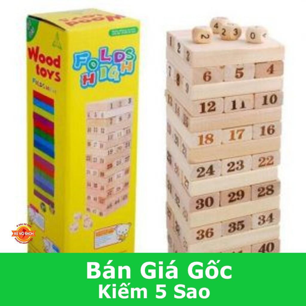 [CỰC ĐẸP] [Nhập TOYAPR10K giảm ngay 10K]đồ chơi rút gỗ 48 miếng nặng 1kg
