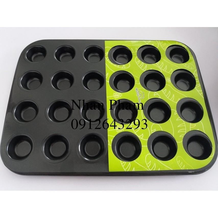 Khuôn cupcake 24 ô nhỏ - 2735253 , 40064191 , 322_40064191 , 110000 , Khuon-cupcake-24-o-nho-322_40064191 , shopee.vn , Khuôn cupcake 24 ô nhỏ