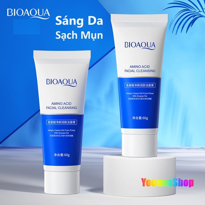 Sữa rửa mặt cấp nước BIOAQUA Dưỡng ẩm nhẹ nhàng, Làm sạch da mặt và Mụn đầu đen