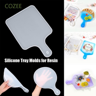 COZEE DIY Coaster Mould Sea Wave UV Epoxy Resin Tray Mold Casting Home Decorations Serving Board Resin Crafts Painting Art|Silicone Molds