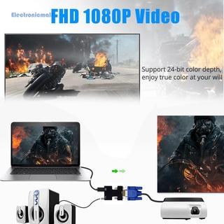 Bộ Chuyển Đổi Âm Thanh / Video Kỹ Thuật Số Hd 1080p Hdmi-Compatible Sang Vga Cho Pc