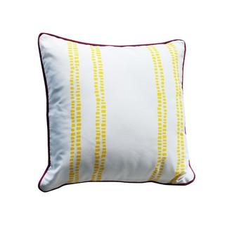 Gối trang trí JYSK Majs vải polyester trắng họa tiết vàng 40x40cm thumbnail