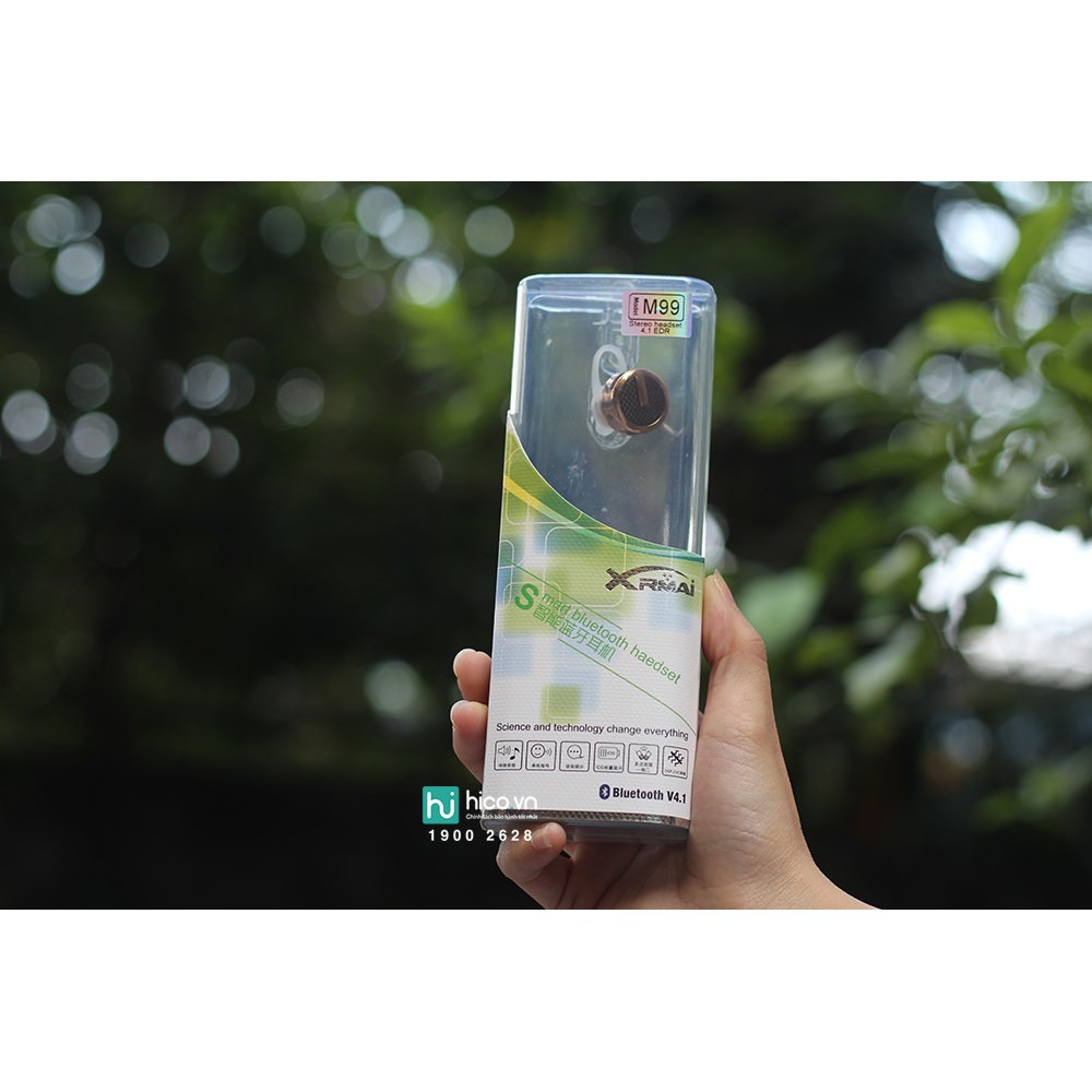 [XẢ KHO] TAI NGHE BLUETOOTH M99 - THIẾT KẾ SANG TRỌNG - CHẤT LƯỢNG ÂM THANH TUYỆT VỜI - TẶNG BÚT CẢM ỨNG