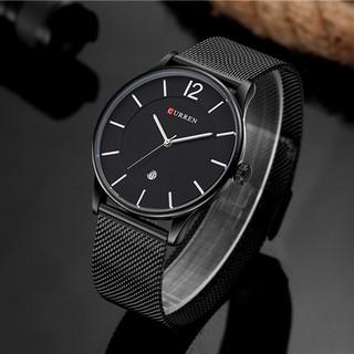 [ĐẲNG CẤP] Đồng hồ nam thời trang CURREN dây thép chống gỉ + Tặng VÒNG TỲ HƯU bình an