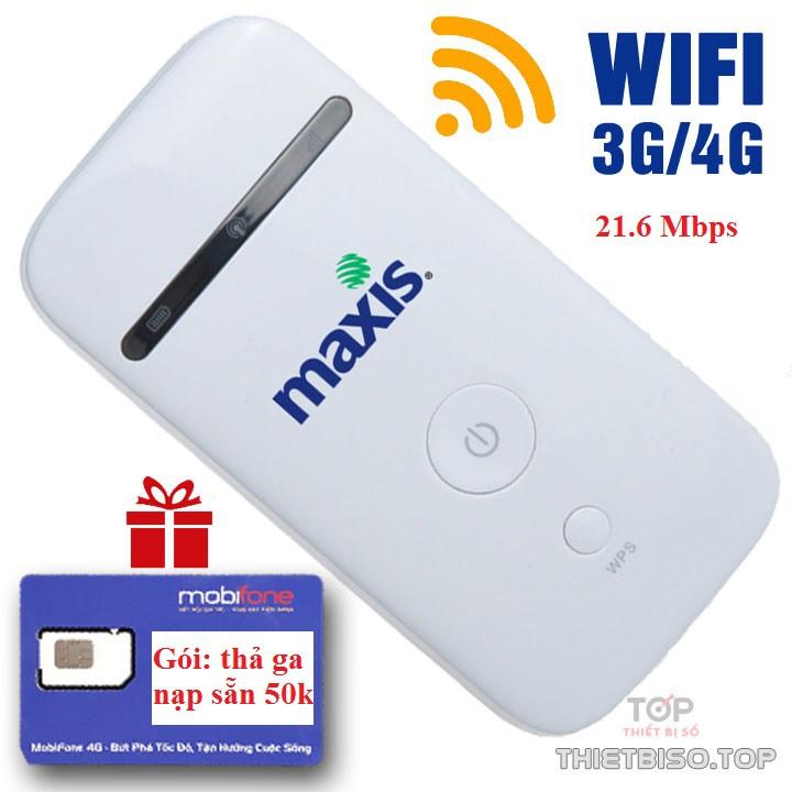 Combo bộ phát 3G/4G chính hãng ZTE kèm sim 4G mobifone
