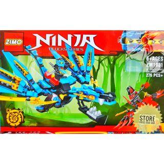 Lego Zimo Lắp Ráp Robot Ninja Rồng ( Xanh Dương ) _ 276 Mảnh