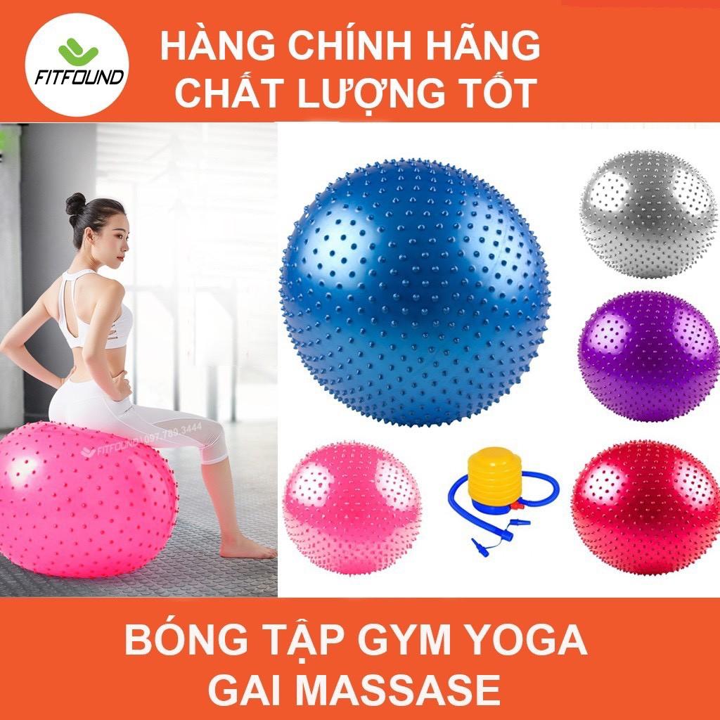 Bóng tập gym yoga gai massage 55, 65, 75CM