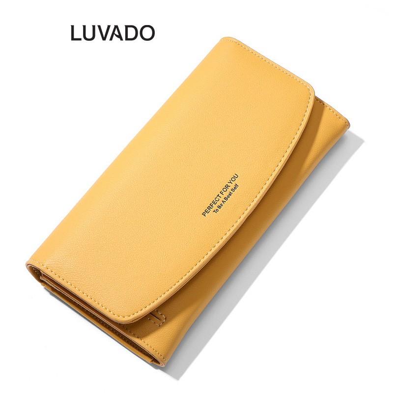 Ví nữ cầm tay đẹp dáng dài PERFECT FOR YOU đựng tiền điện thoại nhiều ngăn thời trang cao cấp LUVADO VD352