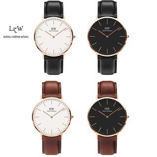 """Đồng hồ nam nữ Daniel Wellington Classic DW dây da ITALIA 36mm & 40mm - Lyz watch giá chỉ còn <strong class=""""price"""">199.000.000.000đ</strong>"""