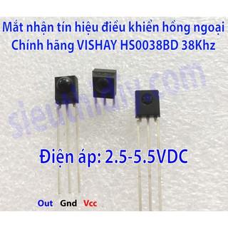 Mắt nhận tín hiệu điều khiển hồng ngoại VISHAY HS0038BD chính hãng
