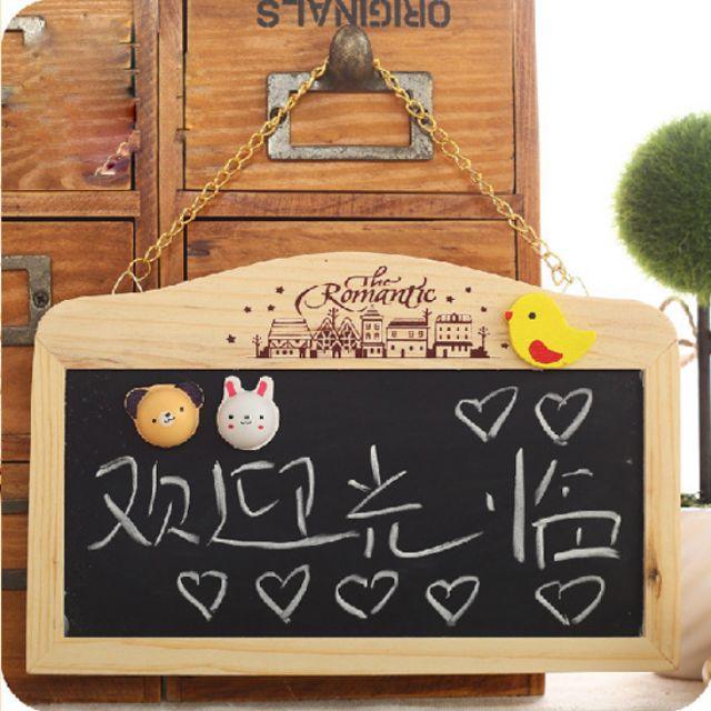 Bảng gỗ treo cửa phòng - shop