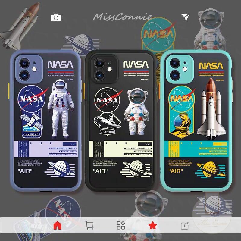 Casing Vivo Y12 Y30 Y50 Case Vivo Y15 Y20 Y20i Y17 Y30i Oppo A53 2020 A92 A3s A5 2020 A9 2020 A5s A12 A7 A52 A72 A31 2020 Realme C11 C15 C12 6 6i 5 5s 5i C3 Tide Brand NASA Skin Feel Case
