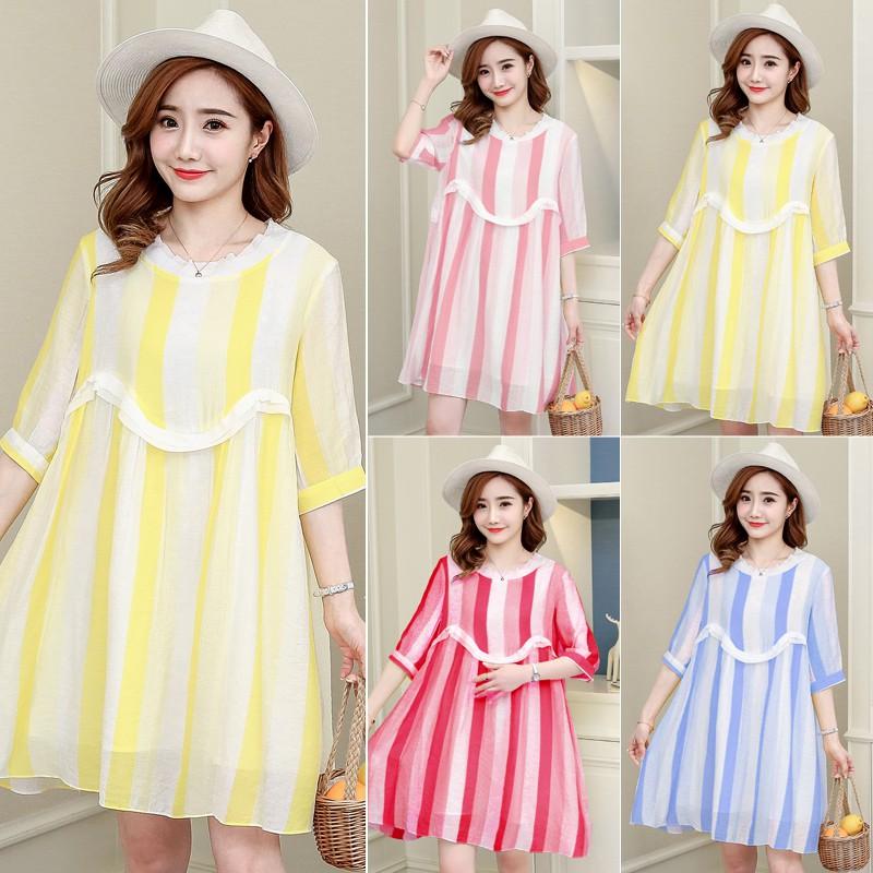 Đầm bầu , váy bầu dễ thương hiện đại thích hợp cho dạo phố mặc nhà