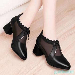 Giày Sandal Cao Gót Phối Lưới Thời Trang 2021
