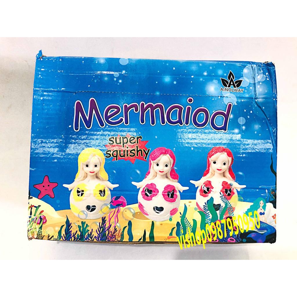 đồ chơi gudetama bóp trút giận tiên cá có hạt nở mã QAF72 RCMD