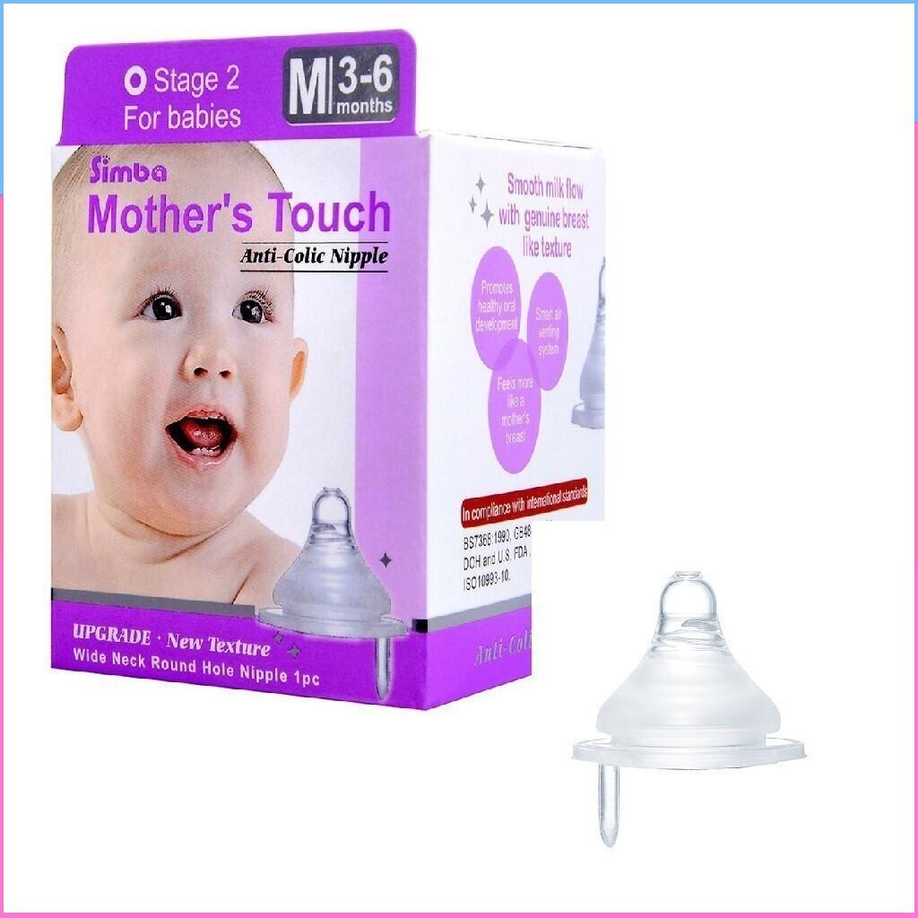 (Hàng mới về)Ty thay thế simba cho bình sữa cổ rộng Pigeon/Simba/Wesser dành cho bé