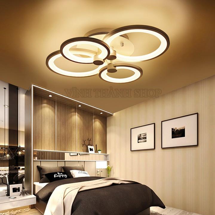[ Tặng kèm đèn năng lượng mặt trời ] Đèn Trần Trang Trí Hiện Đại - 3 Chế Độ Sáng Trắng, Trung Tinh, Vàng