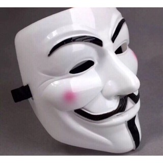 Mặt nạ hacker Anonymous Trắng HENGFENG