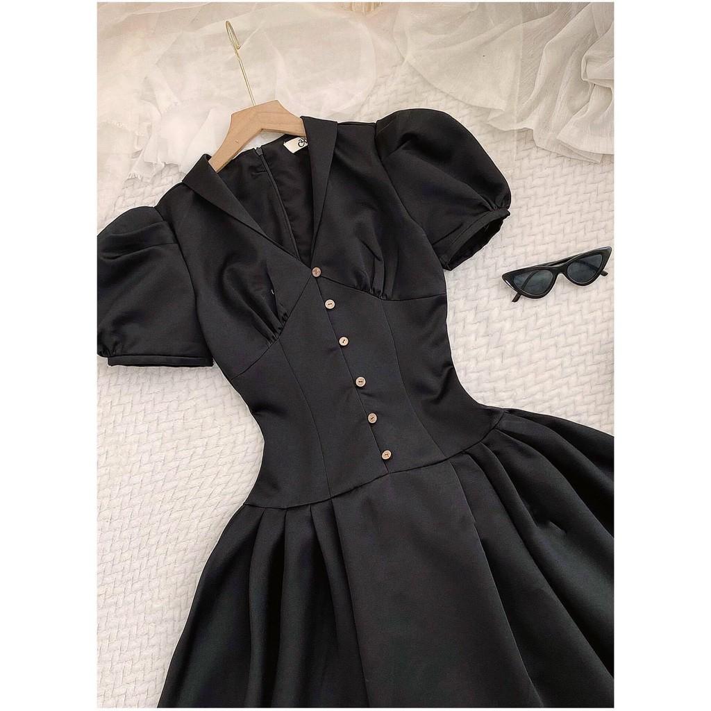 Mặc gì đẹp: Sang chảnh với Đầm dự tiệc, dạo phố cổ vest tay bồng dáng xòe nhẹ xinh xắn - Puny Dress