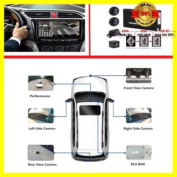 Camera hành trình 360 cao cấp Lotusviet chuẩn AHD dành cho tất cả các loại xe ô tô có màn hình hiển thị LV-558 - BH 12T