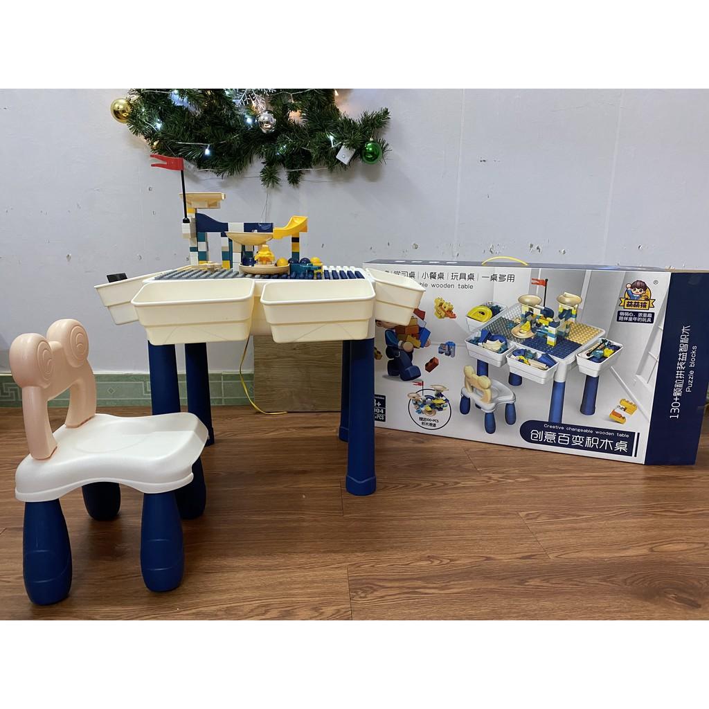Bộ Bàn Đồ Chơi Lego 3 Chức Năng Cho Bé Sáng Tạo