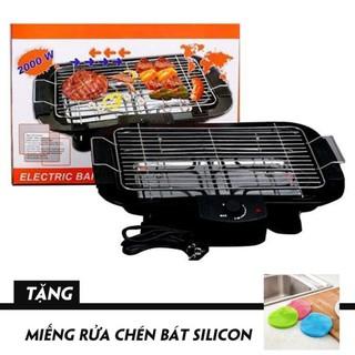 Bếp Nướng Điện Cao Cấp Electric Barbecue Grill 2000W Không Khói +Tặng Miếng Rửa Chén Bát