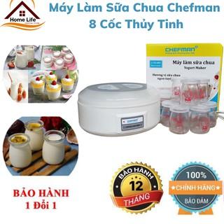Máy Làm Sữa Chua Chefman CM-302T Loại 8 Cốc Thủy Tinh Chính Hãng