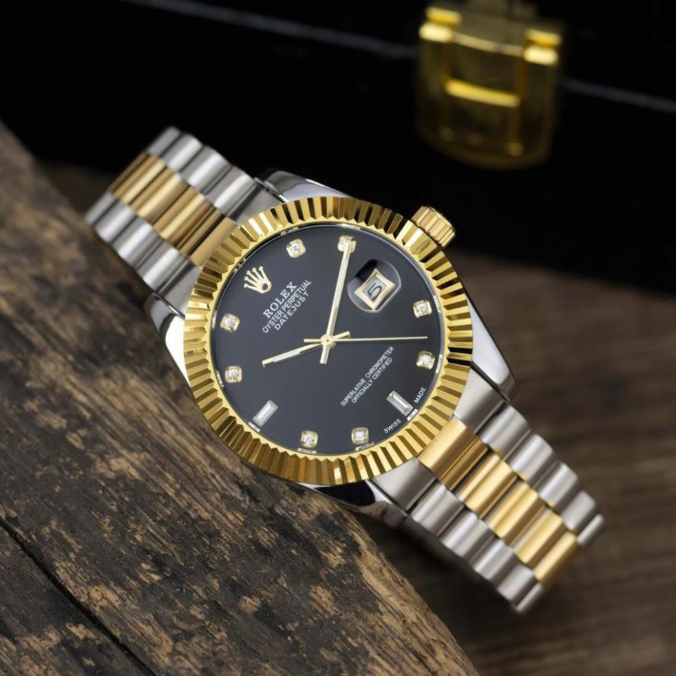 (Thẻ bảo hành 12 tháng) Đồng hồ nam RL-38mm dây kim loại màu denim kiểu dáng sang trọng