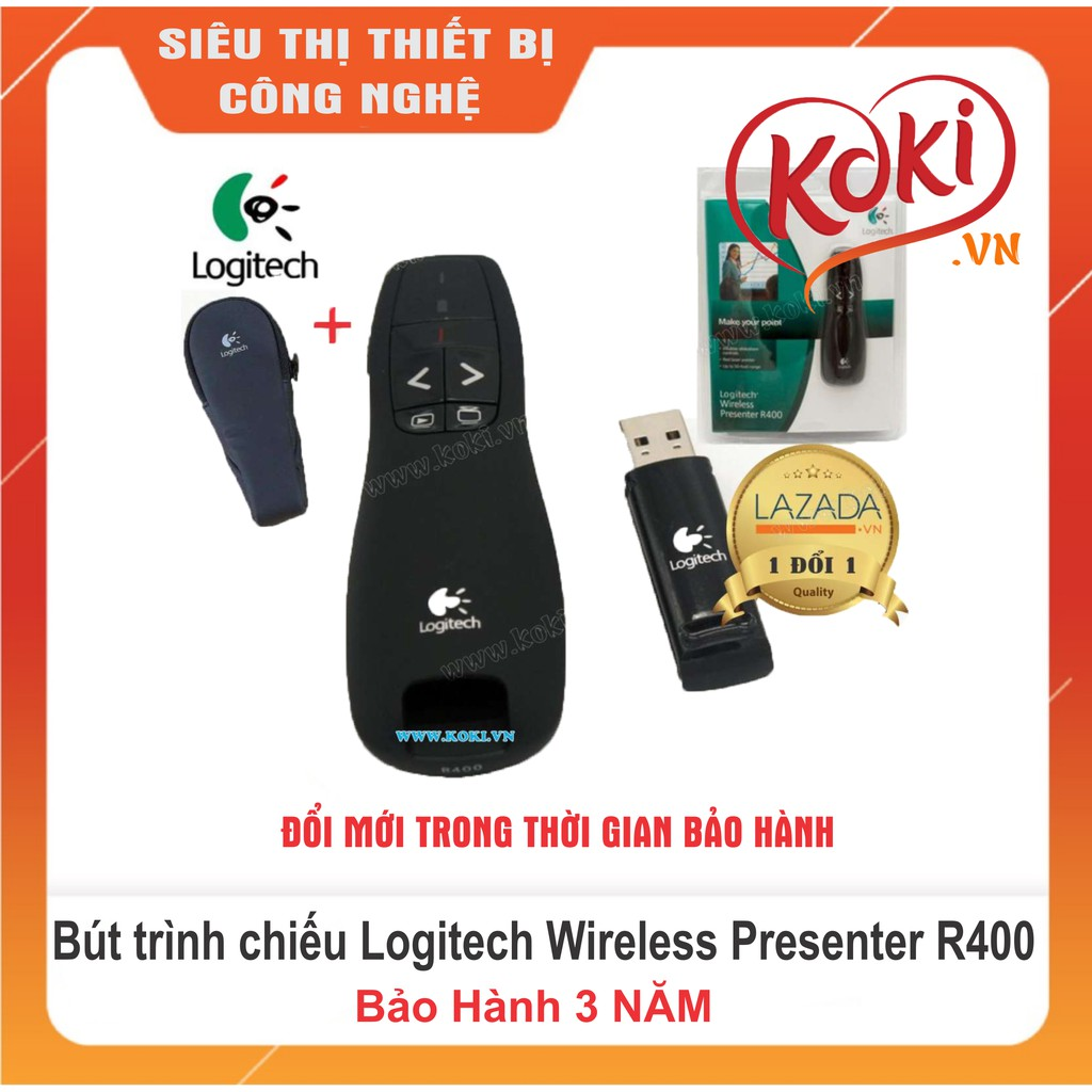 Bút trình chiếu Logitech Wireless Presenter R400 Giá chỉ 250.000₫