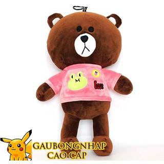 Gấu bông Brown mặc áo love hàng cao cấp size 30cm, quà tặng cho bạn gái hot nhất năm 2019