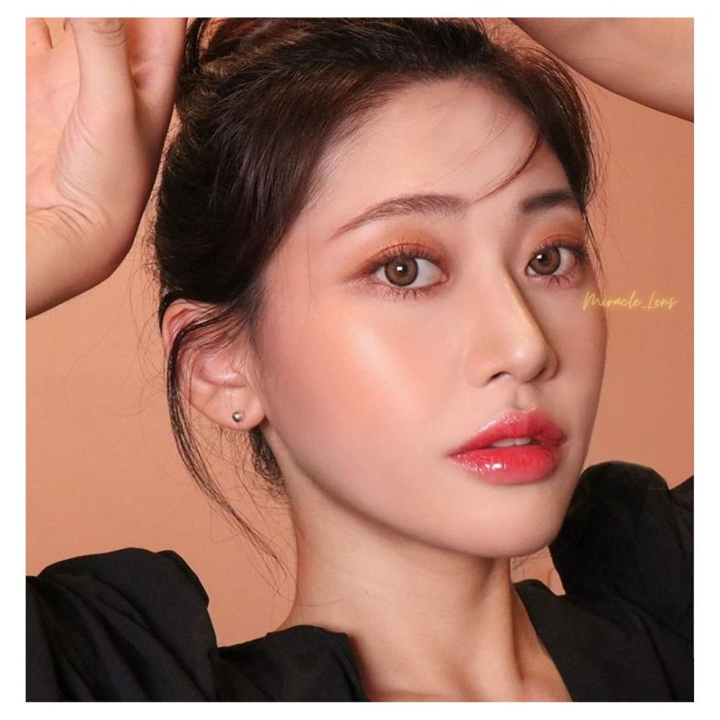 [LENS HOT] Kính áp tròng Hàn Quốc SHINE ICE BROWN - Lens cận thời trang HSD 6 tháng