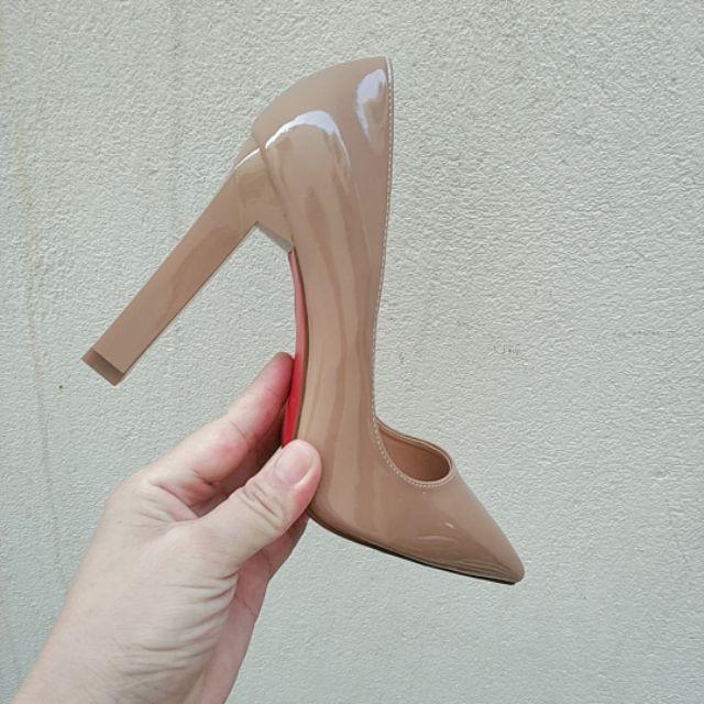 Giày cao gót vuông 10cm
