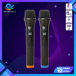 [Mã SKAMA07 giảm 8% đơn 250k]Micro Không Dây Karaoke Vietstar, Chuyên Dành Cho Mọi Loa Kéo, Âm Ly, Tần Số 50 thumbnail