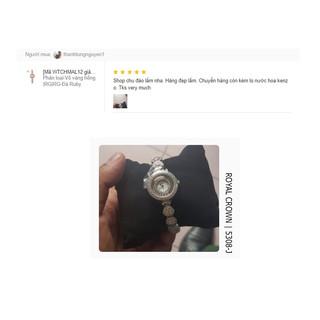 Đồng hồ nữ chính hãng Royal Crown 5308 Jewerry Watch vỏ trắng
