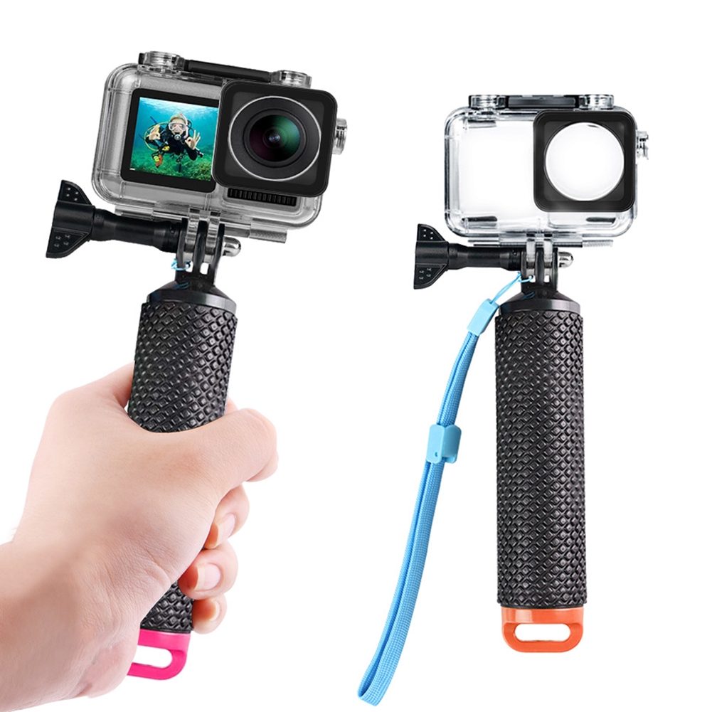Waterproof Housing Snorkeling With Buoyancy Stick Camera Diving Floating Protective Case Sport For DJI Osmo Action