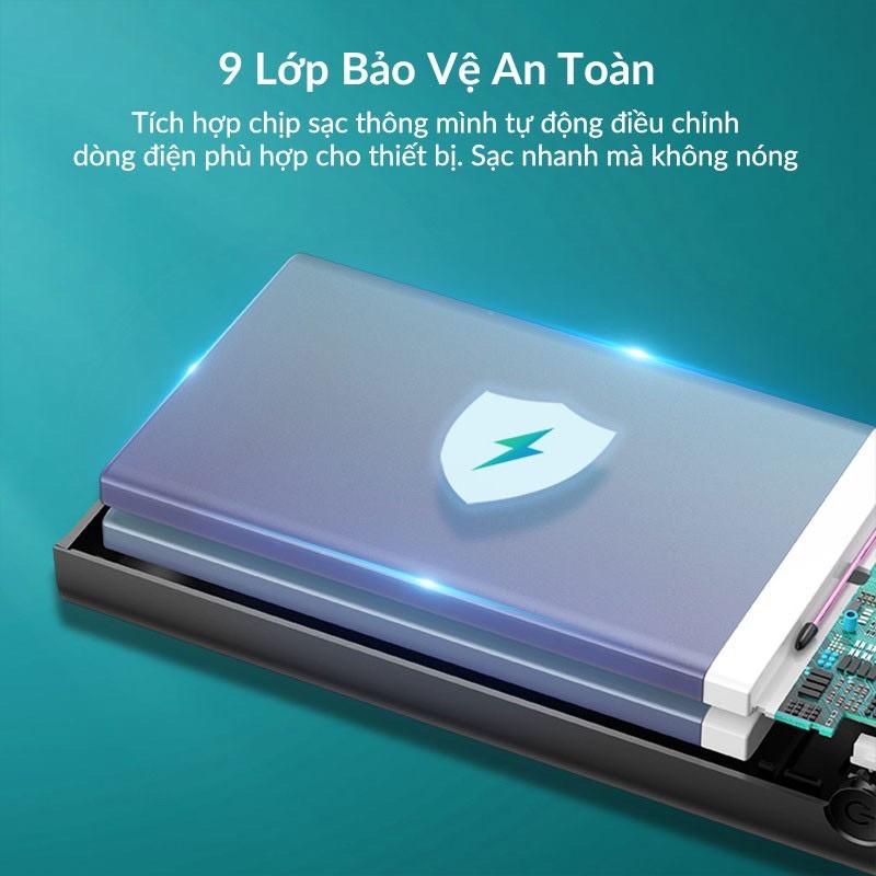 Sạc dự phòng ⚡CHÍNH HÃNG⚡ pin sạc dự phòng BASEUS 20000MAH 22,5W thiết kế mạch tinh vi, an toàn khi sử dụng