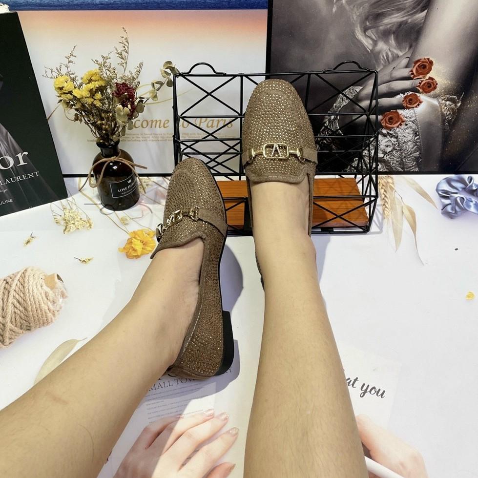 Giày Mọi Đính Xoàn BIG SIZE ẢNH TỰ CHỤP Dép Đi Tiệc - Da Mềm - Nhập Khẩu Quảng Châu FA16 FA20 FA29