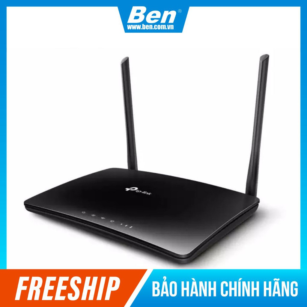 [Mã SKAMPUSHA7 giảm 8% đơn 250k]TP-Link Bộ phát Wifi 4G LTE chuẩn N 300Mbps Tăng tốc độ download nhanh - TL-MR6400