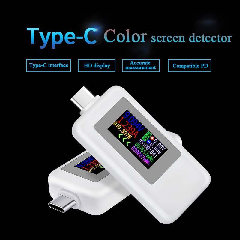 [NEW] USB tester / kiểm tra đo dòng điện, điện áp type C màn hình màu KEWEISI KWS-1902C